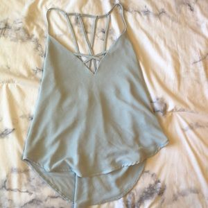 Baby Blue Strappy Top from Forever 21